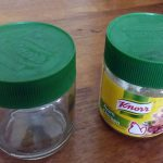 Recycle small plastic container for portable snack containers