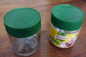 Glass jar washed up