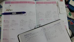 Planning for CNY using my diary and planner