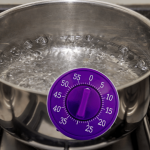 Use a kitchen timer if you are forgetful about food cooking in the stove/oven