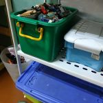 Storing and organizing toys using storage bins