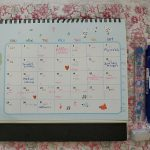 Calendar to jot down important items