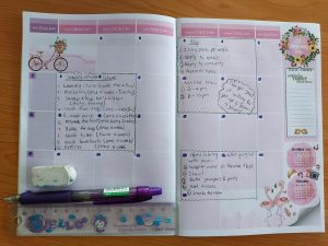 How to repurpose expired monthly spread planners