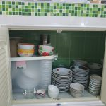 build in kitchen cabinets to store dishes