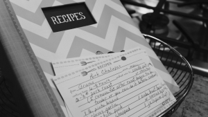 Jot down your mom's recipe...even though you hate cooking