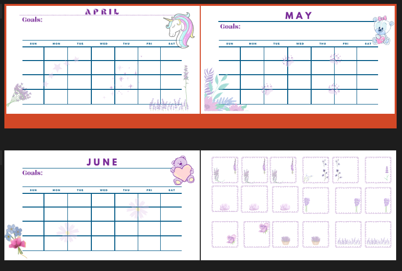 Making My Own Sticky Notes and Planner Spreads
